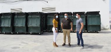 El Ayuntamiento adquiere una nueva partida de cien contenedores para residuos orgánicos por un total de 18.000 euros