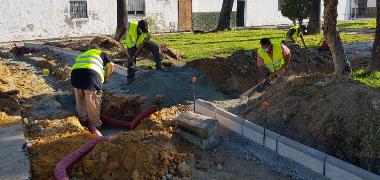 Los Palacios y Villafranca acomete la remodelación de la plaza del Cristo de la Misericordia con 75.000 euros del PFEA 2020