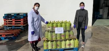 Confirmado el segundo fallecimiento por Covid-19, mientras continúan las donaciones de material para la desinfección de las calles de Los Palacios y V