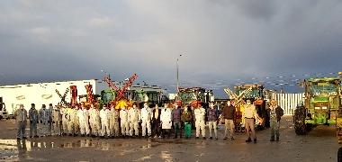El Ayuntamiento de Los Palacios y Villafranca realiza la tercera gran desinfección de las calles del municipio