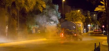 Reanudados los trabajos de desinfección de espacios públicos contra el Covid-19