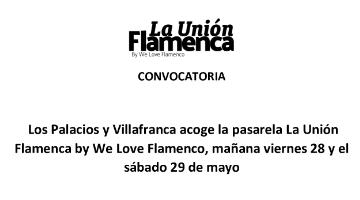 Los Palacios y Villafranca acoge la pasarela La Unión Flamenca by We Love Flamenco